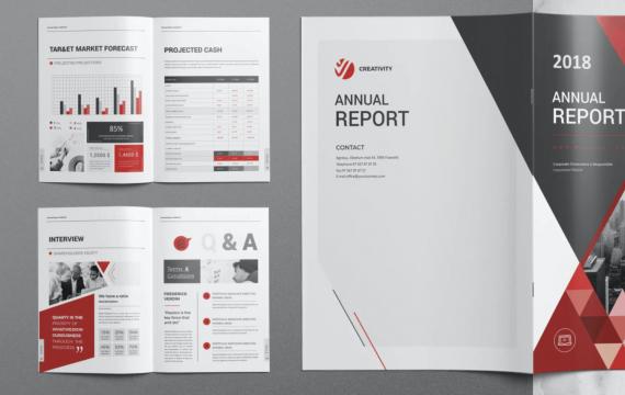 年度报告设计模板