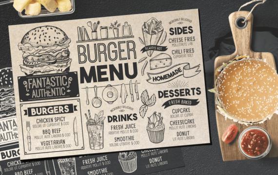 汉堡食品菜单模板