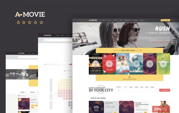 A.Movie-电影/电影HTML更少模板