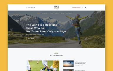Max Magazine-新闻和博客HTML模板