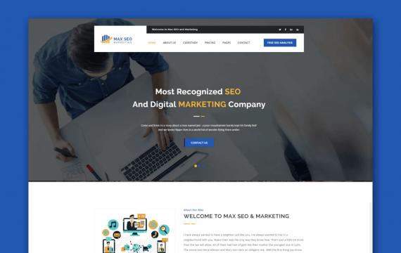 Max Seo-Seo&Marketing HTML模板