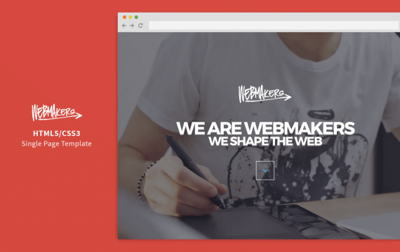 Webmakers-单页HTML / CSS模板