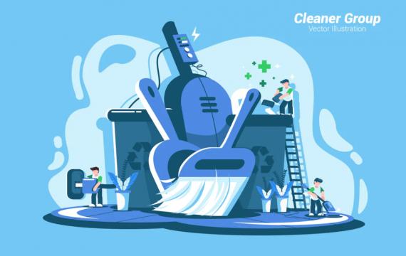 清洁组-矢量图