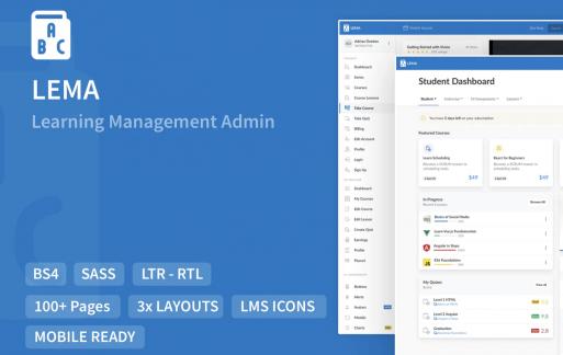 LEMA-学习管理系统管理模板