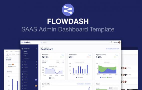 FlowDash-SAAS管理员仪表板模板