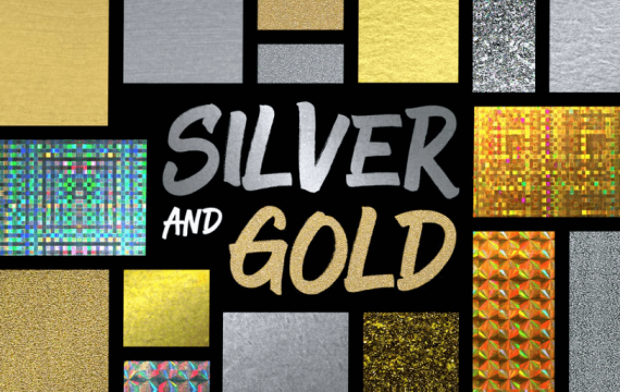 银色和金色样式PS图层样式