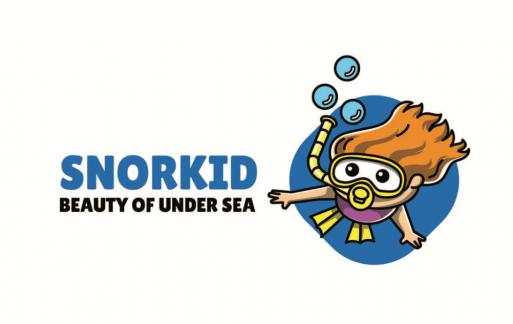 浮潜-吉祥物徽标