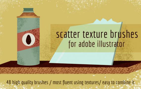适用于Adobe Illustrator的散布纹理笔刷
