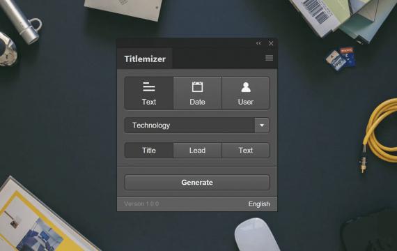 Titlemizer Photoshop插件