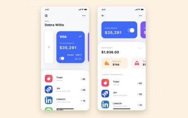 金融应用程序UI模板套件