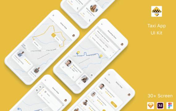 Yunu-出租车应用程序UI模板套件