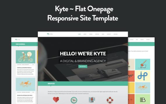 Kyte-平面单页响应HTML5模板