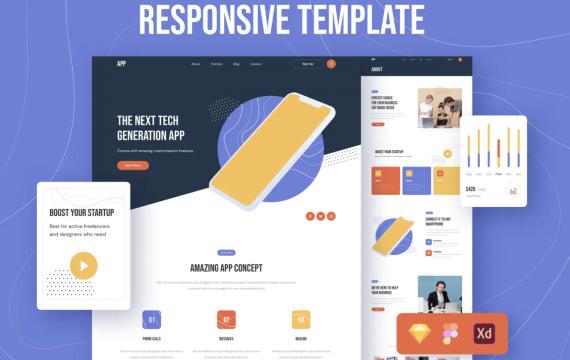 应用响应设计网页模板下载