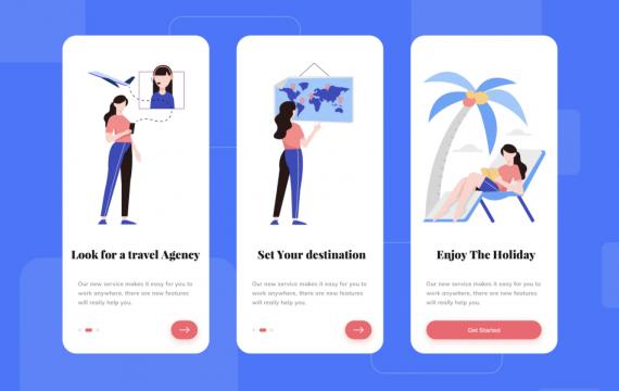Travel App-入门引导页面