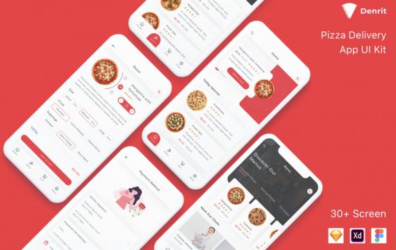 Denrit-Pizza Delivery App UI Kit