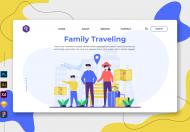 家庭旅行-网络和移动登陆页面