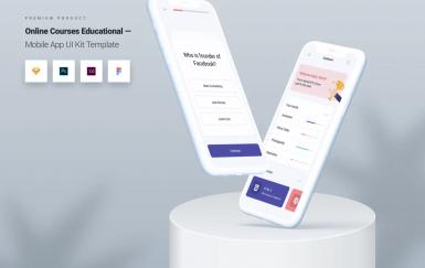 在线课程教育移动应用UI套件