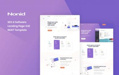 Nonid-Vue Nuxt SEO和软件登陆页面