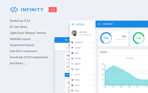 Infinity-响应式Web应用套件后台管理