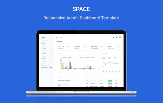 空间-响应式管理仪表板模板
