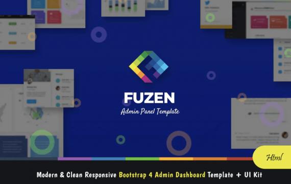 Fuzen-Bootstrap 4管理模板+ UI套件