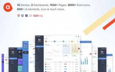 AdminBite强大的Bootstrap 4管理模板