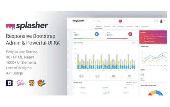 Splasher-响应式引导程序管理模板