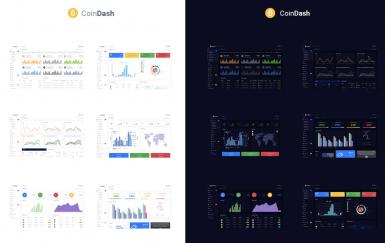 加密货币仪表板管理模板-Coindash