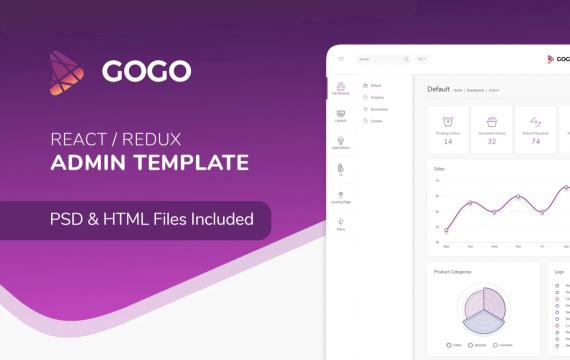 Gogo React-React后台管理模板