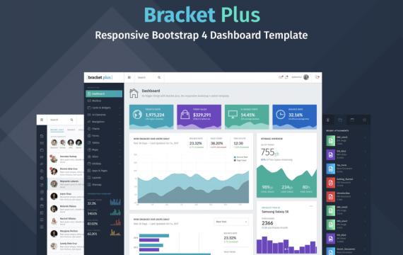 托架+响应式Bootstrap 4仪表板模板