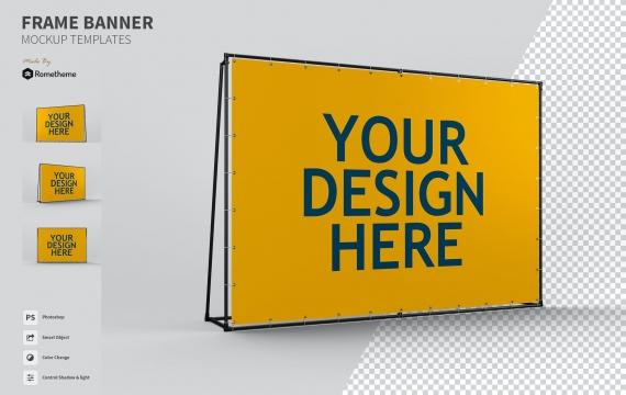 框架广告横幅-样机FH
