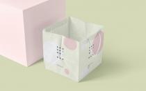 方形牛皮纸购物袋样机展示下载