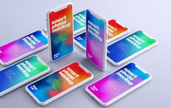 iPhone 11 Pro粘土模型 多台iPhone样机展示