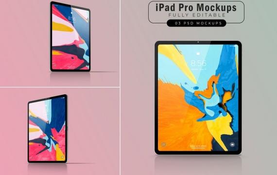 iPad Pro样机V.4 苹果平板样机展示下载