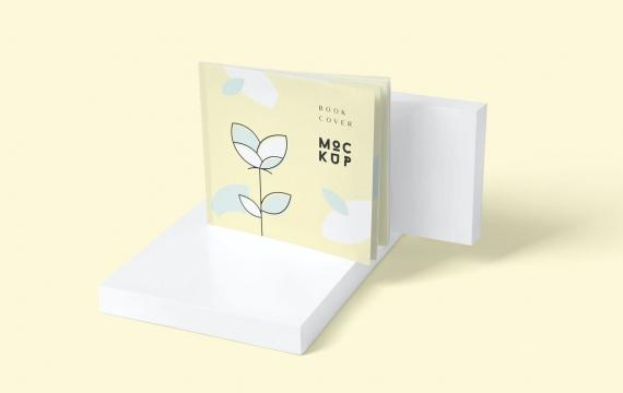 超薄方形书套样机书本样机展示下载