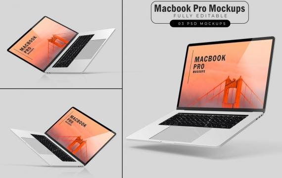 Macbook Pro样机V.3 苹果电脑样机展示下载