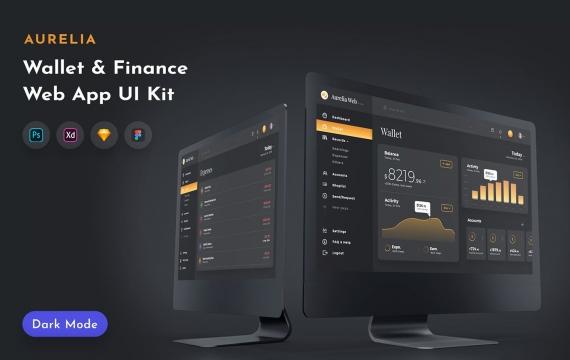 Aurelia钱包Web UI套件网页台管理UI界面模板