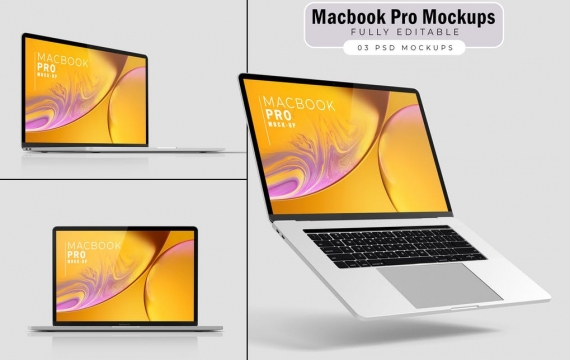 Macbook Pro样机V.4 苹果笔记本样机展示下载