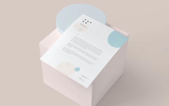 美国信纸大小的文具纸模型样机下载
