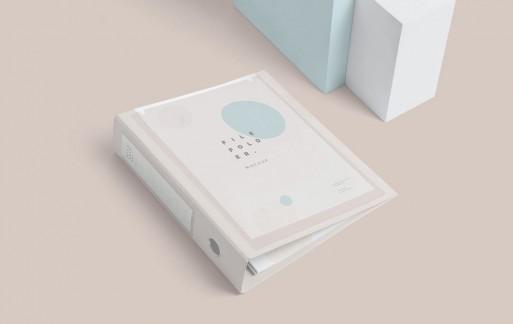 塑料皇冠盒文件夹样机PSD模板下载