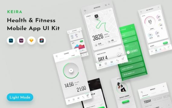 Keira Fitness UI套件 健身App界面设计模板