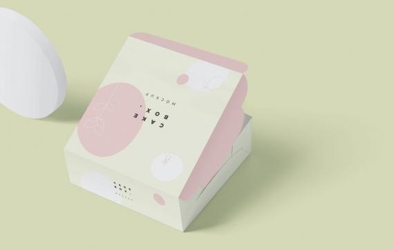 大方蛋糕纸箱模型样机展示下载