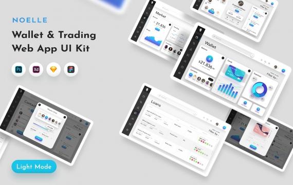 Noelle钱包和C-currency Web App UI套件 后台管理模板