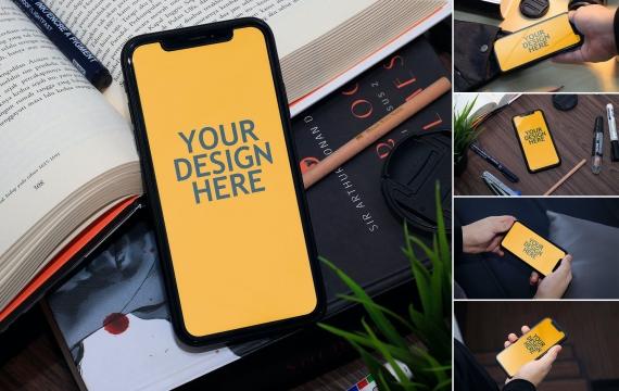 Iphone XR-现实模型苹果手机样机展示下载