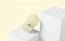 小圆形蜡烛标签样机展示下载