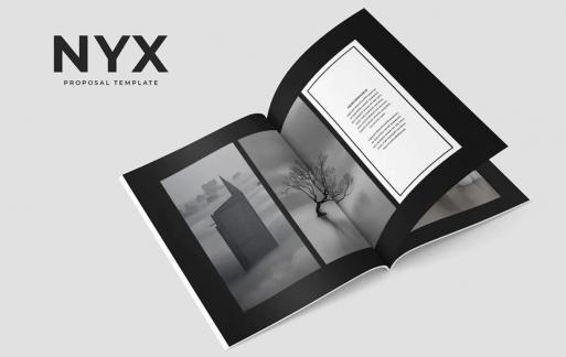 Nyx提案黑色画册模板