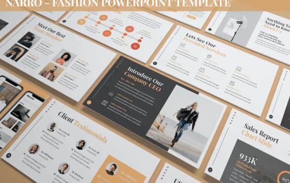 Narro-时尚PowerPoint模板