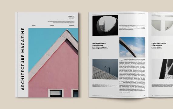 建筑杂志模板下载