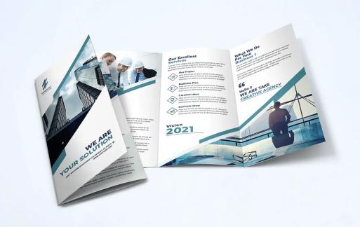蓝色商业宣传手册模板