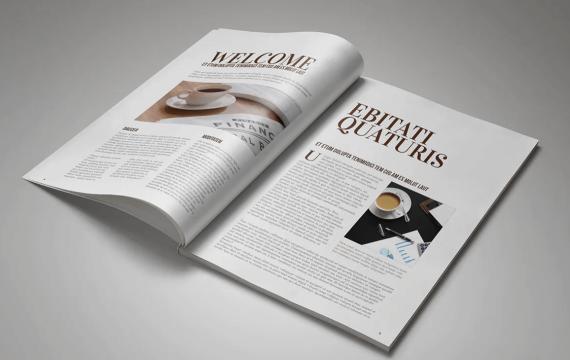 多功能InDesign杂志手册模板